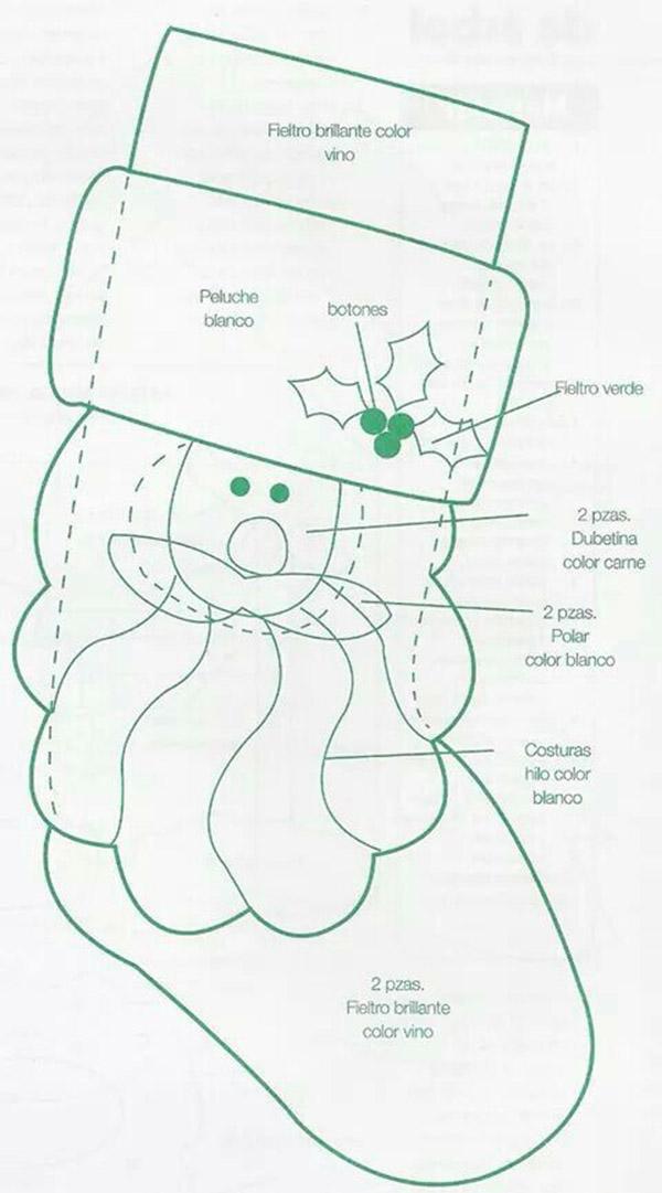 Рождественский сапожок из фетра своими руками sapozhok 22