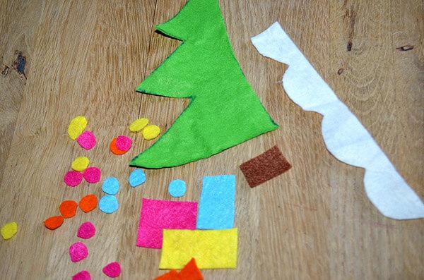 Рождественский сапожок из фетра своими руками sapozhok 4