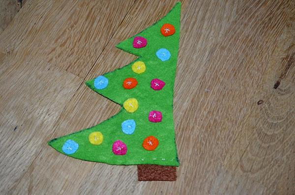 Рождественский сапожок из фетра своими руками sapozhok 6