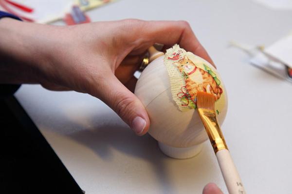 Создаем уникальную елочную игрушку своими руками shar 3