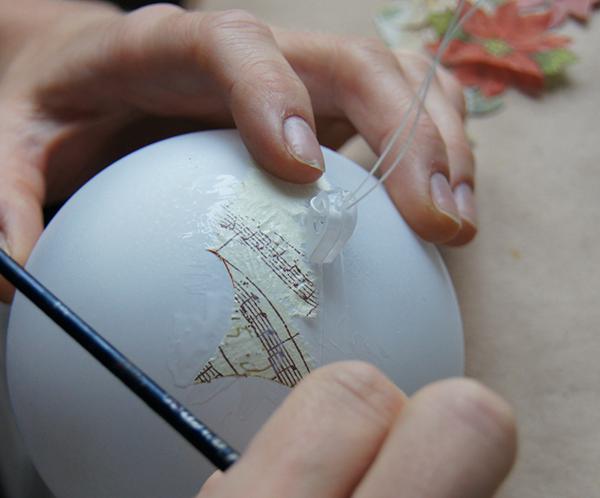 Создаем уникальную елочную игрушку своими руками shar 5