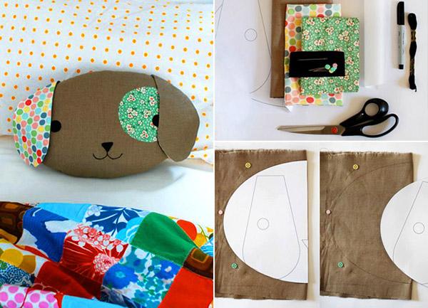Подушка Собака своми руками: как сделать оригинальный подарок sobaka podushka iz tkani