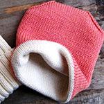 Двойная шапка спицами для женщин