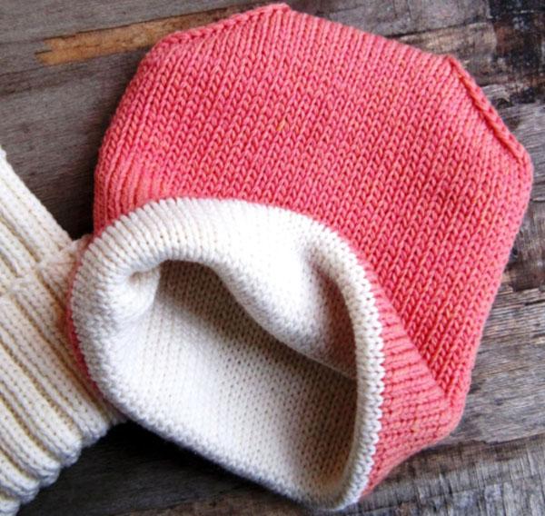 Двойная шапка спицами для женщин двойная шапка спицами 1