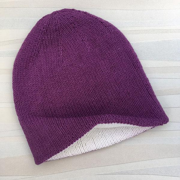 Двойная шапка спицами для женщин двойная шапка спицами 2