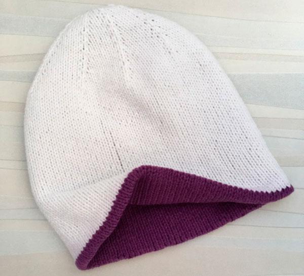 Двойная шапка спицами для женщин двойная шапка спицами 3