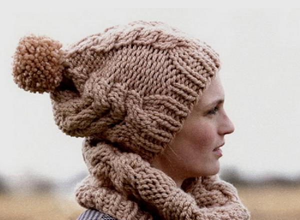 Женские шапки связанные из толстой пряжи спицами шапка из толстой пряжи спицами 1