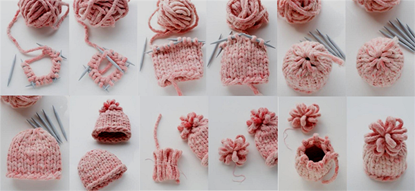 Связать женскую шапку спицами из толстой нитки