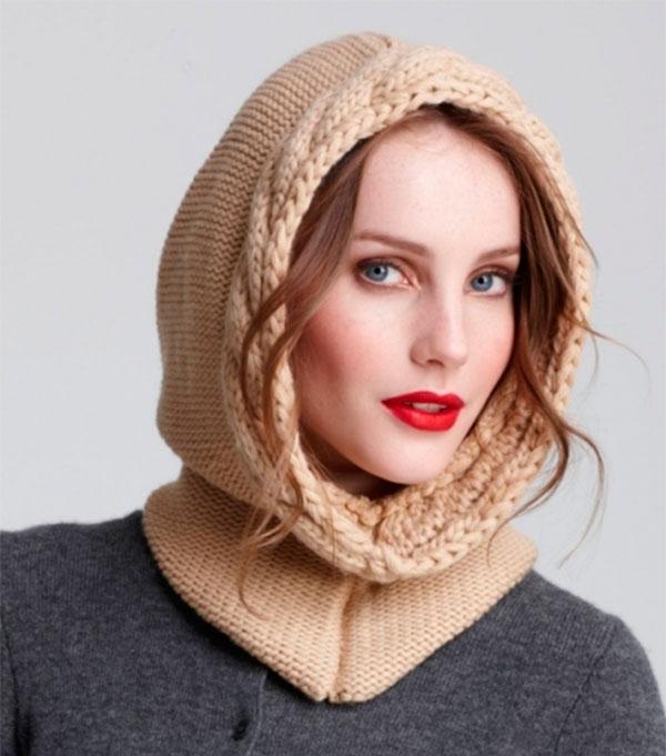 Шапка капюшон спицами для женщин с описанием шапка капюшон спицами 1