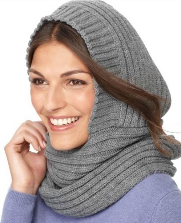 Шапка капюшон спицами для женщин с описанием шапка капюшон спицами 2