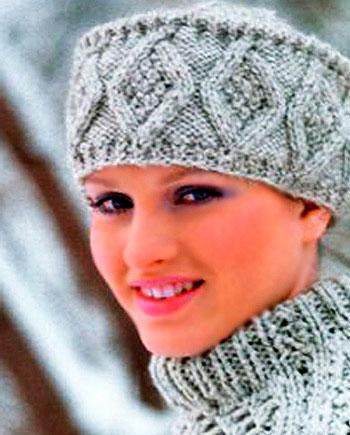 Вязаная спицами шапка Кубанка для женщин: подробное описание шапка кубанка спицами 1