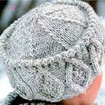 Вязаная спицами шапка Кубанка для женщин: подробное описание
