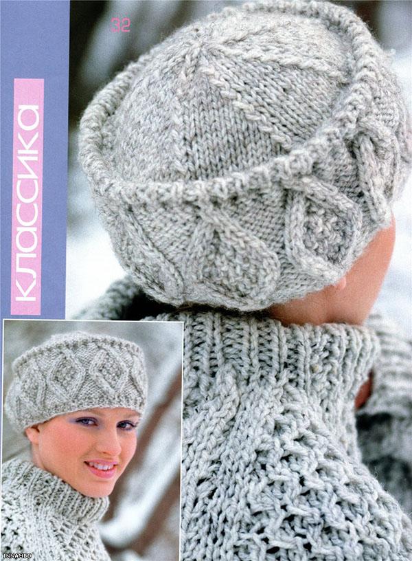Вязаная спицами шапка Кубанка для женщин: подробное описание шапка кубанка спицами 3