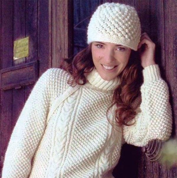 Вяжем шапку узором Шишечки — теплый аксессуар на зиму шапка шишечками 1
