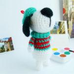 Собака амигуруми крючком: пошаговое описание вязания