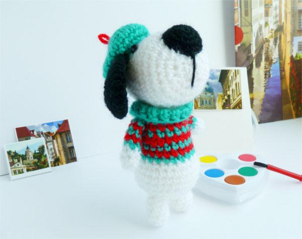 Собака амигуруми крючком: пошаговое описание вязания dog amigurumi 1