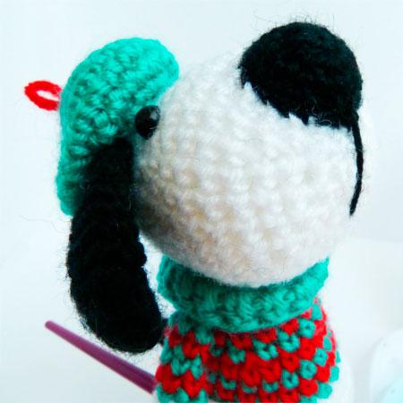 Собака амигуруми крючком: пошаговое описание вязания dog amigurumi 10