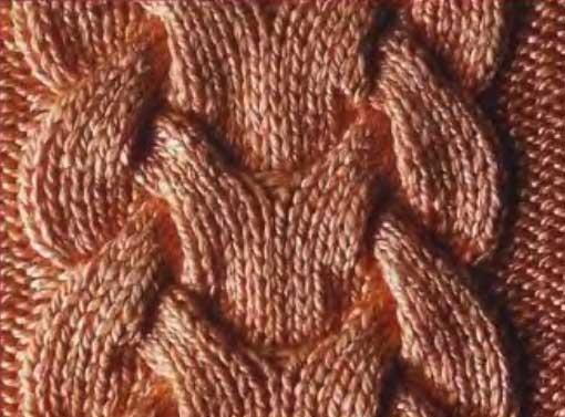 Узор Королевская коса спицами: схема и описание узора korolevckaya koca spicami 2