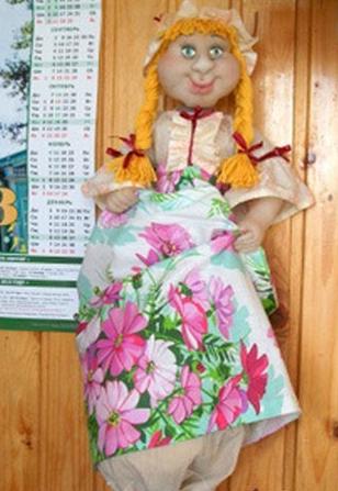 Кукла пакетница из капрона: наводим порядок на кухне kukla paketnitca 15