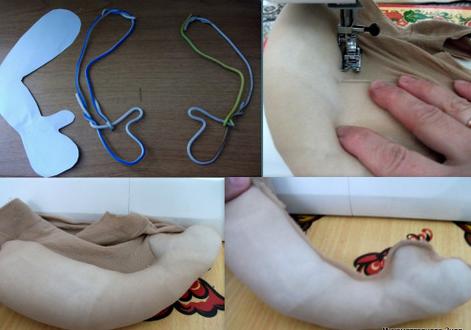 Кукла пакетница из капрона: наводим порядок на кухне kukla paketnitca 5