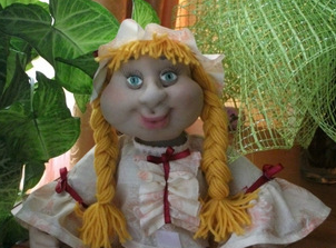 Кукла пакетница из капрона: наводим порядок на кухне kukla paketnitca 9