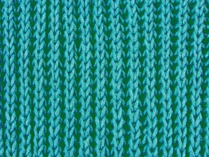 Полупатентная резинка спицами.: схема вязания 1 5255074ee8d9f5255074ee8e08