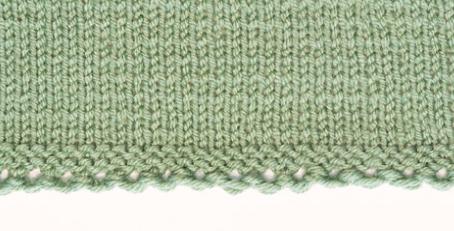 Крестообразный набор петель спицами 7 5
