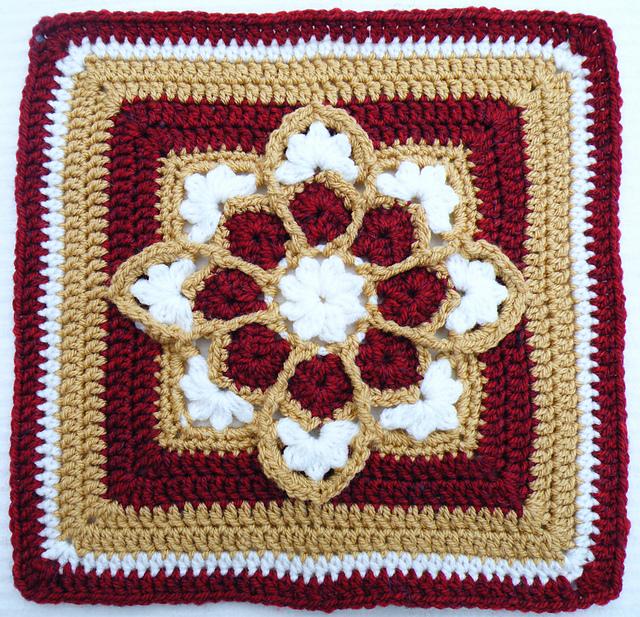 Неповторимый витражный мотив на афганских квадратах kvadrat 13