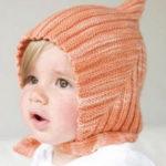 Детская шапка Эльф спицами