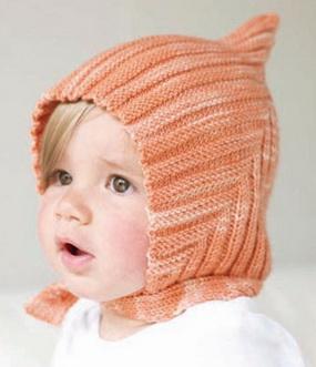 Детская шапка Эльф спицами shapka elf spicami 1