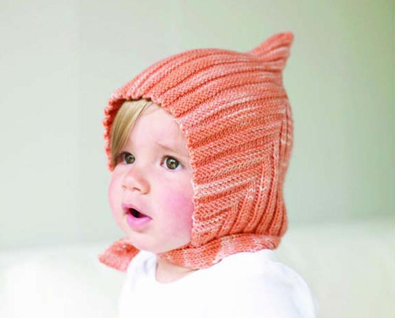 Детская шапка Эльф спицами shapka elf spicami 3
