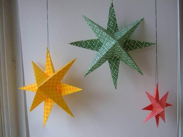 Рождественская звезда из бумаги своими руками 1 5