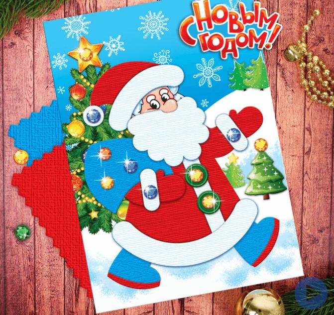 Детская поделка аппликация Дед мороз 1 5