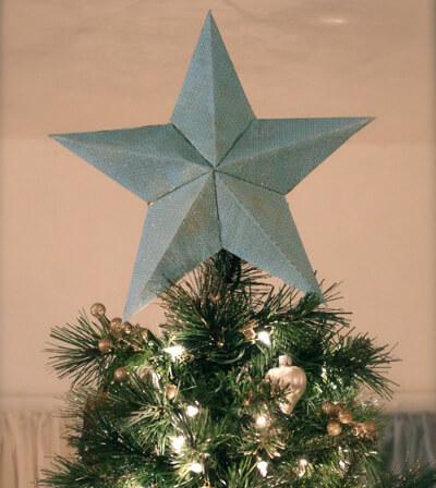Звезда на елку из бумаги: мастер класс 1 7
