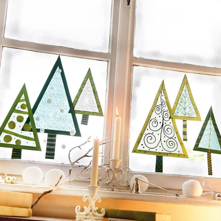 Украшаем окна к Новому году: шаблоны, советы 1 8