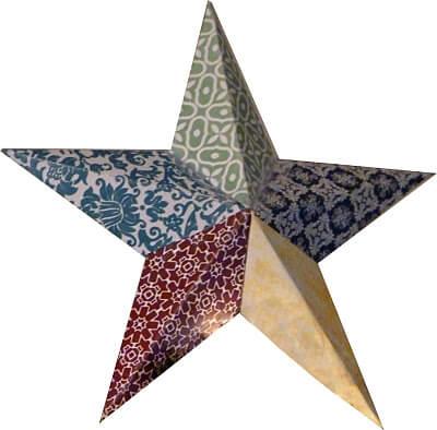 Звезда на елку из бумаги: мастер класс 10 2
