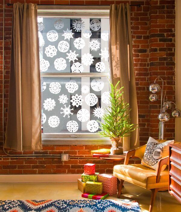 Украшаем окна к Новому году: шаблоны, советы 10 4