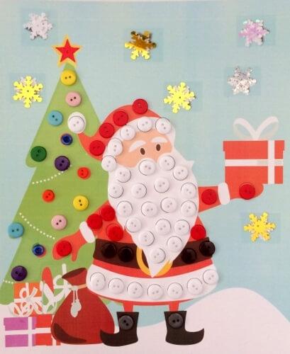 Детская поделка аппликация Дед мороз 10