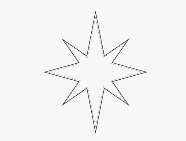 Делаем звезду из фетра на елку своими руками 12 2
