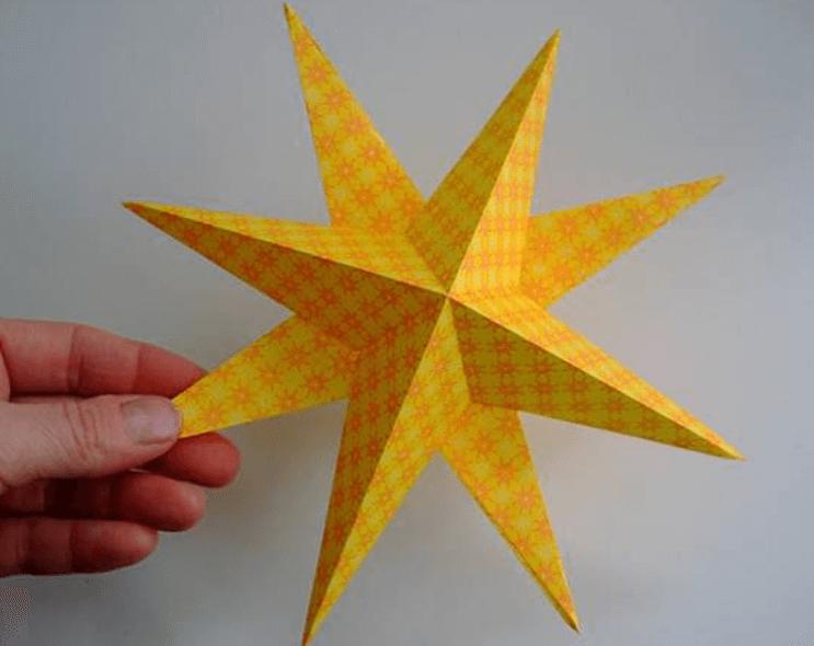 Рождественская звезда из бумаги своими руками 12 6