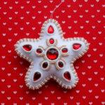 Новогодние звездочки из фетра для украшения Елки