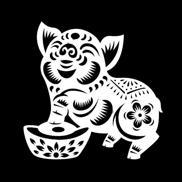 Вытынанки на 2019 Год свиньи 123 1