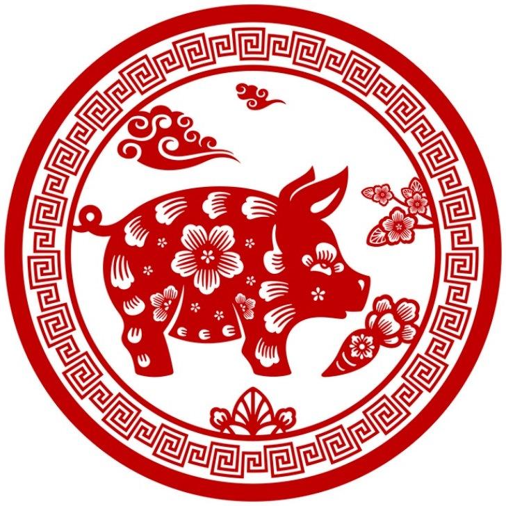 Вытынанки на 2019 Год свиньи 128