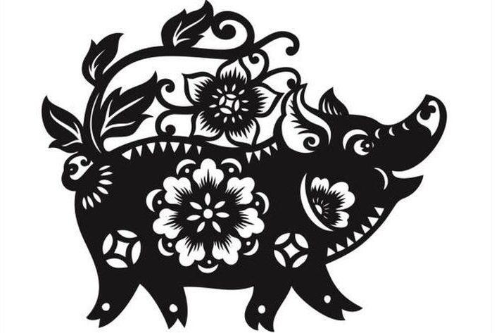 Вытынанки на 2019 Год свиньи 129