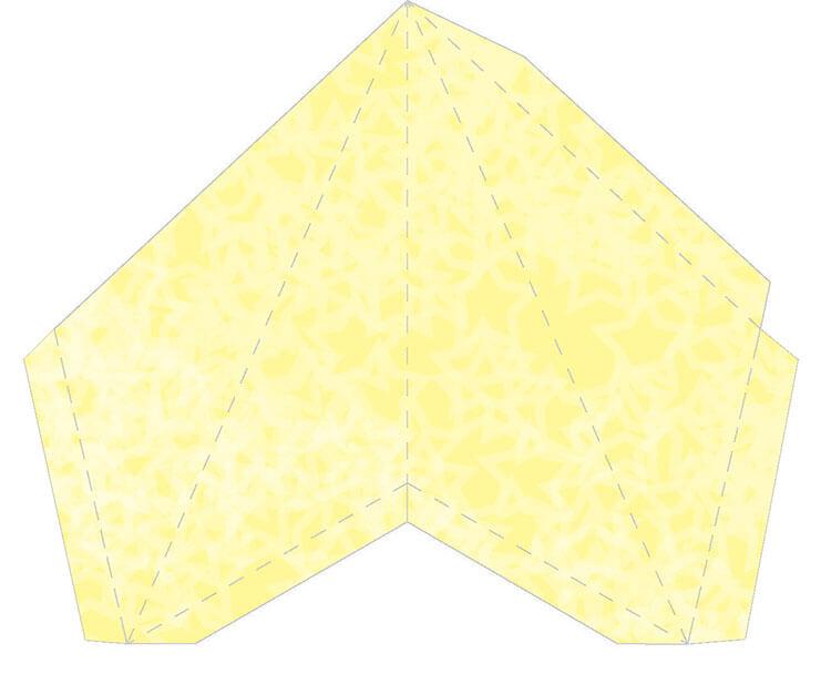Звезда на елку из бумаги: мастер класс 13 1