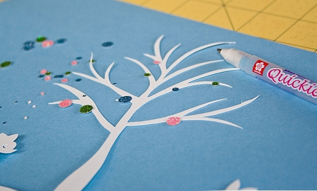 Новогоднее панно из бумаги: варианты для школы и садика 13 5