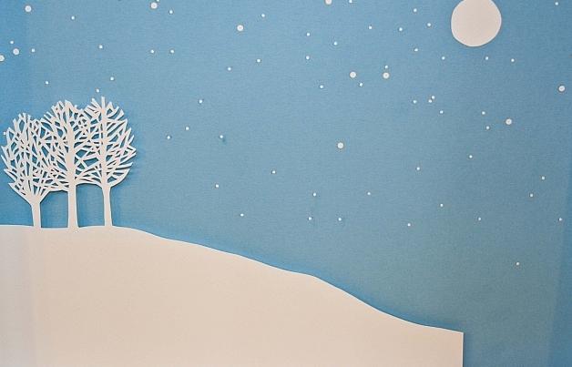 Новогоднее панно из бумаги: варианты для школы и садика 14 5