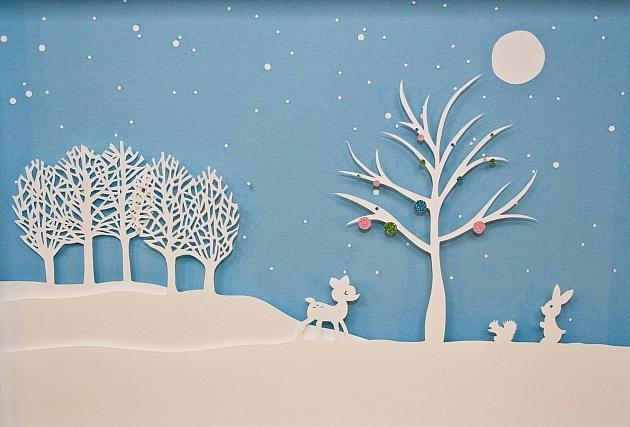 Новогоднее панно из бумаги: варианты для школы и садика 15 4