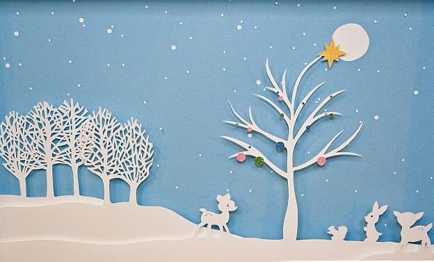 Новогоднее панно из бумаги: варианты для школы и садика 16 4