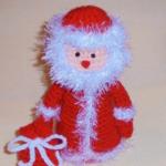 Дед мороз крючком: вяжем игрушку к Новому году